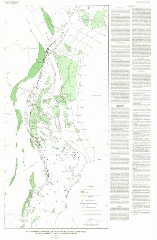 MS Map Of Exposed And Buried Early Mesozoic Rift BasinsSynrift - Continental us map