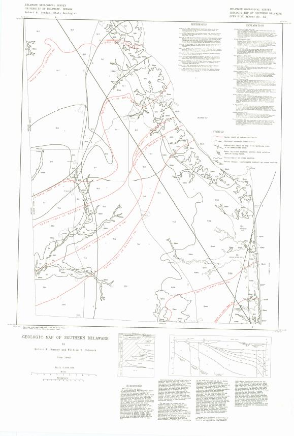 OFR32 Geologic Map Of Southern Delaware  The Delaware