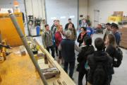 CEIG students viewing drilling systems and samples (credit L. Wang)