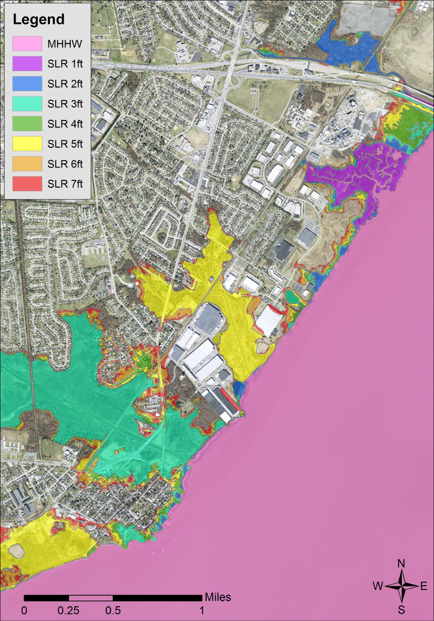 Delaware Coastal Inundation Maps | The Delaware Geological Survey on