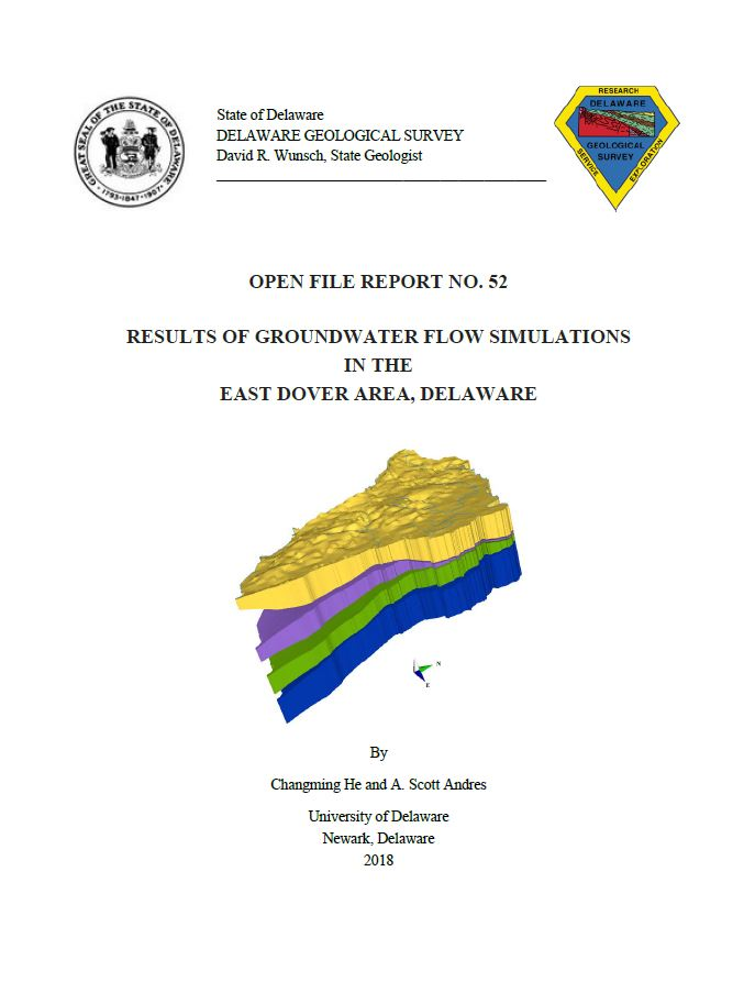 Ofr52 Results Of Groundwater Flow Simulations In The East Dover Area