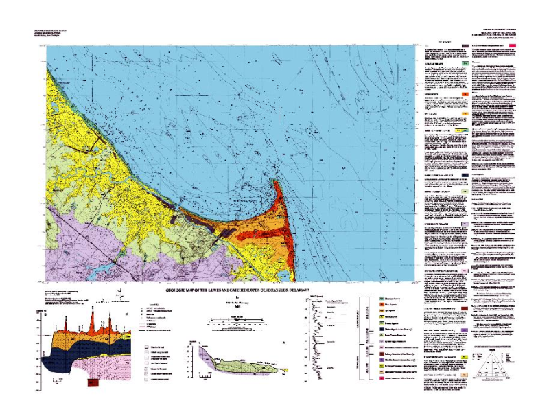 Gm12 Geology Of The Lewes And Cape Henlopen Quadrangles Delaware