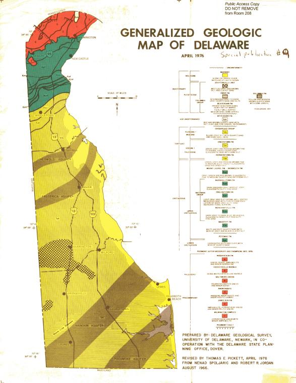 SP9 Generalized Geologic Map of Delaware | The Delaware Geological ...