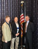 (L to R) Dr. Tim Petty, the Assistant Secretary of the Department of Interior for Water & Science, Dr. David Wunsch, Delaware State Geologist and meeting host, and Dr. James Reilly, Director of the U.S. Geological Survey.